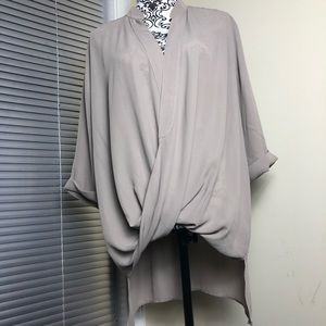 Lisa Rinna Tops - Lisa Rinna Tunic Blouse Size Large Cross Over
